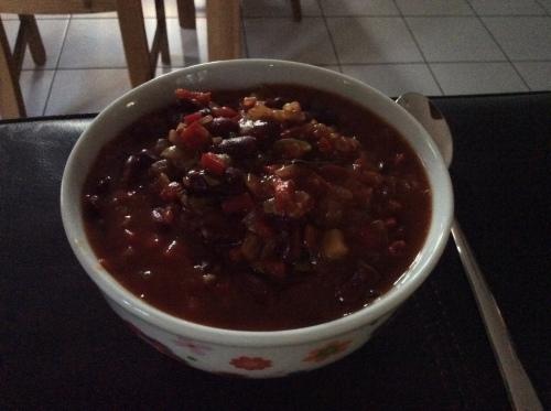 Mein Chili in der Abenddämmerung