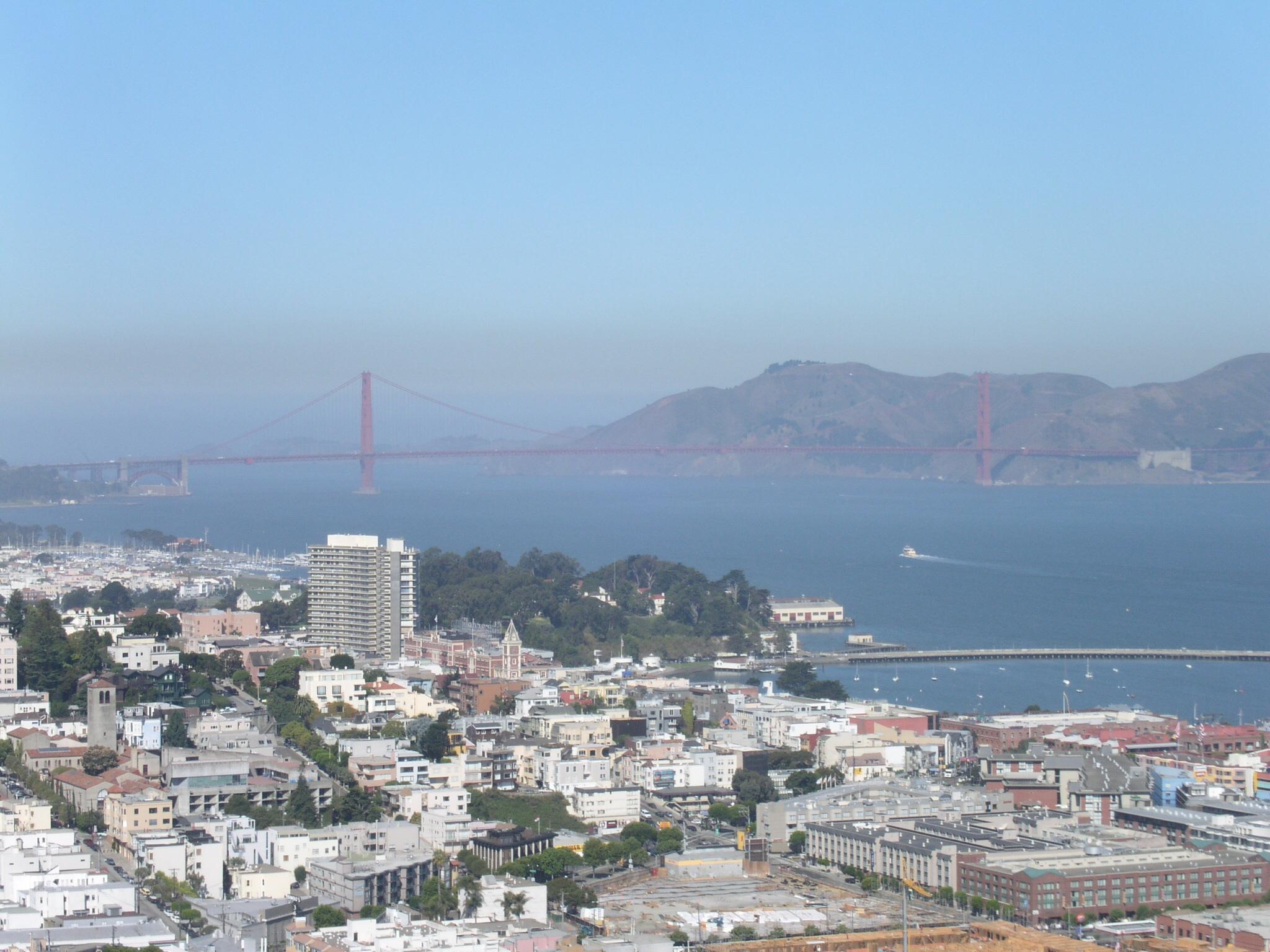 Hier der wundervolle Ausblick direkt auf die Golden Gate Bridge.